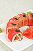 Fuji Sushi rolls   Stock Foto