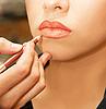 입술 윤곽을 적용 | Stock Foto