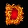화재 문자 D   Stock Foto