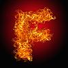 화재 편지 F   Stock Foto