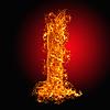 Feuer-Buchstabe I | Stock Foto