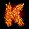 화재 문자 K   Stock Foto