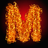 화재 문자 M | Stock Foto