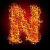 화재 문자 N   Stock Foto