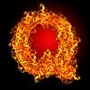 화재 편지 Q | Stock Foto