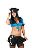 Фото 300 DPI: сексуальная женщина-полицейский