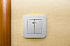 Photo 300 DPI: Electrical light wall switch