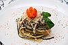 Salad with spaghetti | Stock Foto