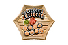 Sushi in wood plate | Stock Foto