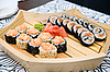ID 3029501 | Sushi on wood plate | High resolution stock photo | CLIPARTO