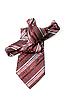 Фото 300 DPI: Красный клетчатый мужской галстук