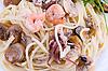 Seafood spaghetti | Stock Foto