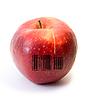ID 3029719 | Red apple z kodem kreskowym | Foto stockowe wysokiej rozdzielczości | KLIPARTO