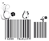 Vector clipart: floral barcode