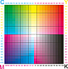 CMYK color palette | Stock Illustration