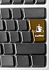 Computer keyboard with Coffee key | Stock Foto