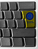 Photo 300 DPI: Computer keyboard with EU button