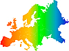 Europe color map | Stock Illustration
