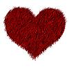 Photo 300 DPI: Red furred heart