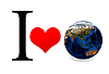 I love Earth | Stock Foto