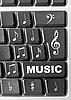 Computer music keyboard | Stock Foto