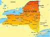 Map of New York state | Stock Illustration