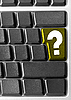 Computer keyboard with yellow Question key | Stock Foto