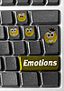 감정 징후와 컴퓨터 키보드 | Stock Foto