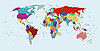 Photo 300 DPI: political map of the world
