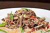 Plastry wołowiny pieczone z warzywami | Stock Foto