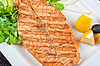 Grilled salmon steak | Stock Foto