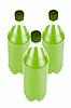 Three green juice bottles | Stock Foto
