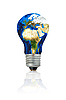 Photo 300 DPI: Earth as an electric bulb