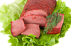 Lettuce and beef meat   Stock Foto