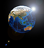 Asia on the Earth planet | Stock Foto