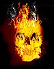 Photo 300 DPI: Fire skull