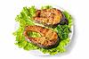 Tasty hunchback salmon fish   Stock Foto