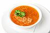 Bowl of vegetable borscht  | Stock Foto