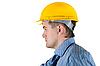 Мужчина в желтом шлеме | Фото
