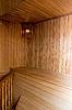 木制房间桑拿 | 免版税照片