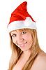 Pretty santa festive woman | Stock Foto