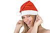 Photo 300 DPI: Beautiful santa girl