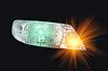 Photo 300 DPI: automotive headlight