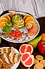 Sweet fruit and cake | Stock Foto