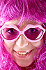 Photo 300 DPI: pink doll with pink spectacles