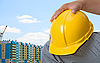 Builder with yellow helm | Stock Foto