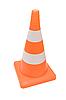 Photo 300 DPI: Road warning cone