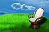 ID 3031480 | Rocking chair on green grass  | 높은 해상도 사진 | CLIPARTO