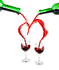 ID 3031495   Heart from pouring red wine   High resolution stock photo   CLIPARTO