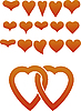 Vector clipart: hearts